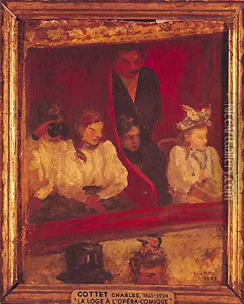 Box at the Opera-Comique, 1887 Oil Painting - Charles Cottet