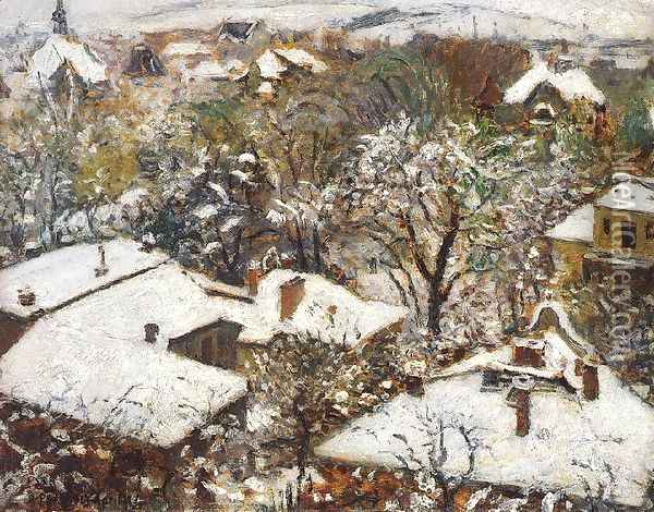 Winter in the Spring 1913 Oil Painting - Istvan Csok