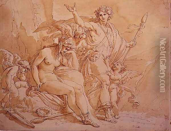 Bacchus and Ariadne, 1780 Oil Painting - Giuseppe Cades
