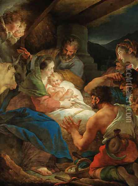 The Adoration of the Shepherds Oil Painting - Giuseppe Cades
