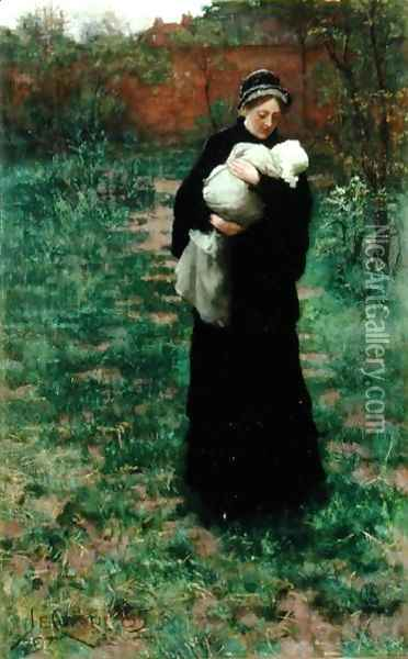 Sorrow's Solace, or In Time of War, 1885 Oil Painting - James Elder Christie
