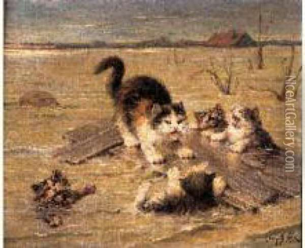 Les Petits Naufrages Oil Painting - Leon Charles Huber