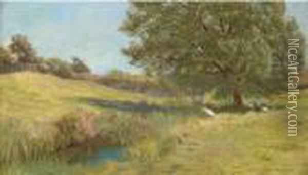 Noonday Oil Painting - Arthur Hughes