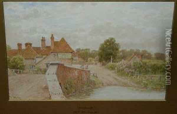 'fordwick', Signed 't. Hunn', And Titled On Mount Oil Painting - Thomas Hunt