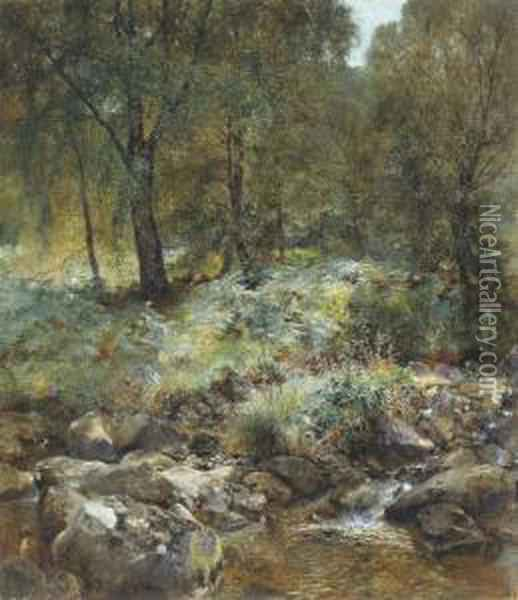 When The Leaves Begin To Turn Oil Painting - Alfred William Hunt