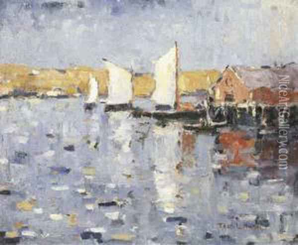 Harbor Sails Oil Painting - Thomas Hunt