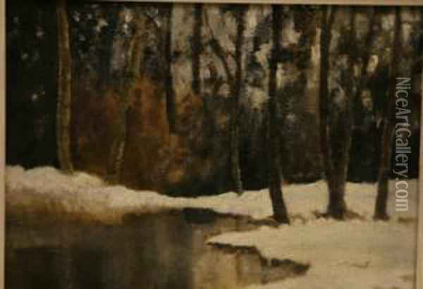 Winter, Belvoir Park Oil Painting - Hans, Jean Iten