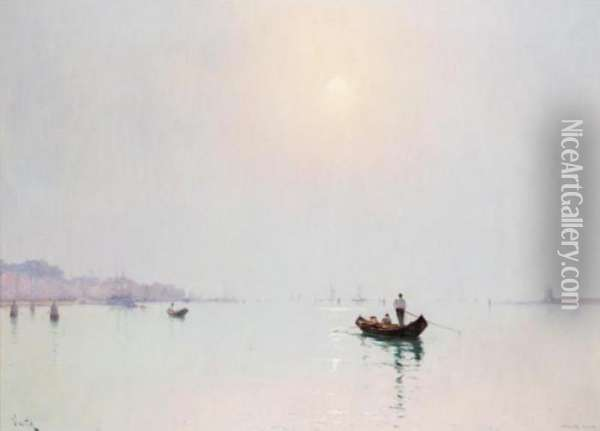 On The Zattere, Venice Oil Painting - Marie Joseph Leon Clavel Iwill