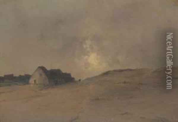 Evening On The Dunes Oil Painting - Marie Joseph Leon Clavel Iwill