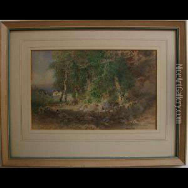Edge Of The Woods Oil Painting - Otto Reinhard Jacobi