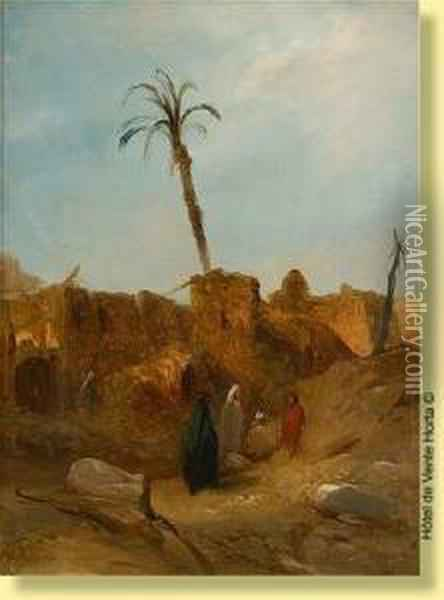 L' Oasis Oil Painting - Jacobus Jacobs