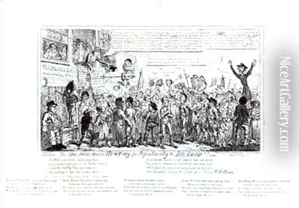 The Spa Fields Orator Hunt ing for Popularity to Do Good Oil Painting - George Cruikshank I