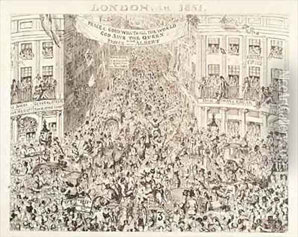 Mayhews Great Exhibition of 1851 London in 1851 Oil Painting - George Cruikshank I
