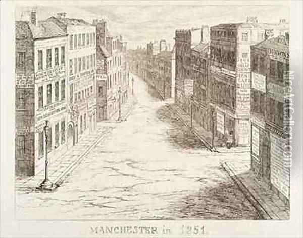 Mayhews Great Exhibition of 1851 Manchester in 1851 Oil Painting - George Cruikshank I