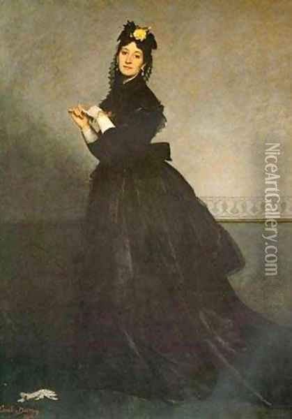 Lady with a Glove Oil Painting - Carolus Duran Charles Emile