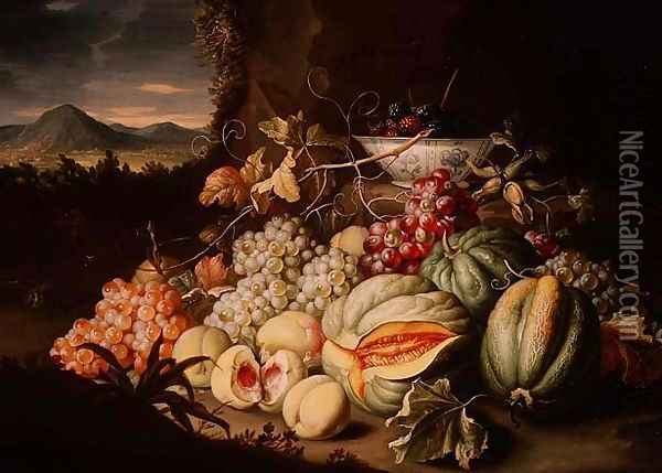 Still Life with Fruit Oil Painting - Alexander Coosemans