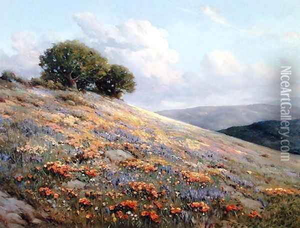 Summer Bloom 1920 Oil Painting - Bruce Crane