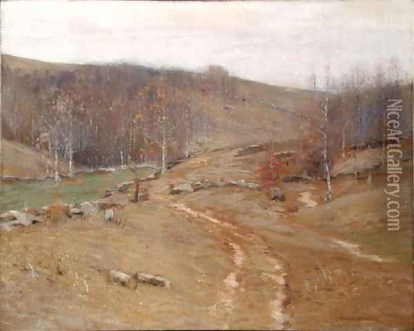 November Hillsides Oil Painting - Bruce Crane