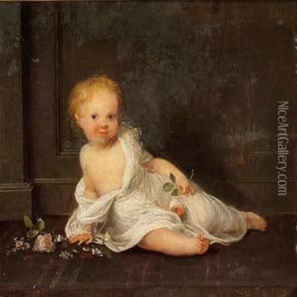 The Artist's Daughter Susanne Juel As A Child Oil Painting - Jens Juel