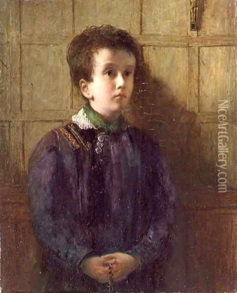 The Brittany Chorister Oil Painting - George-Paul Chalmers