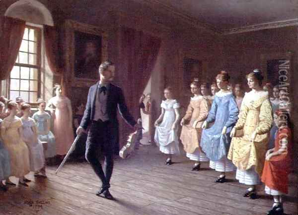 The Dancing Lesson Oil Painting - Hugh Collins