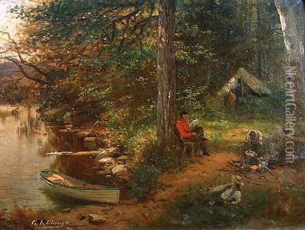 Camping Out in the Adirondacks Oil Painting - George Lafayette Clough