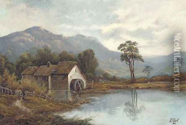 The watermill Oil Painting - Octavius Thomas Clark
