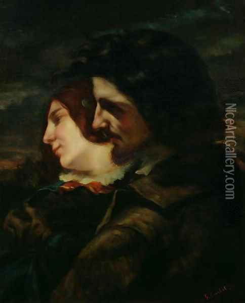 The Lovers in the Countryside, after 1844 Oil Painting - Gustave Courbet