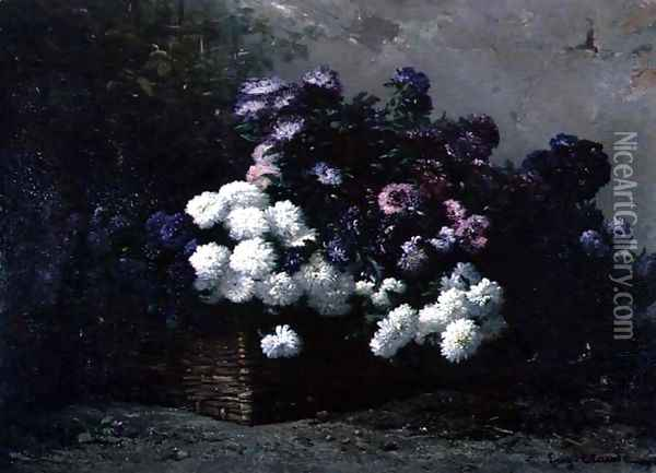 The Basket of Flowers Oil Painting - Eugene Claude