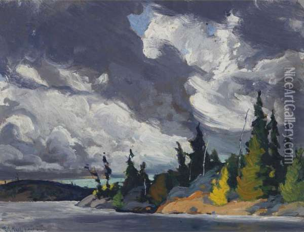 Storm Clouds Oil Painting - George Arthur Kulmala