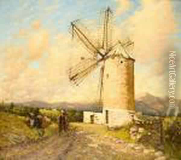A Spanish Mill Oil Painting - Henry Herbert La Thangue