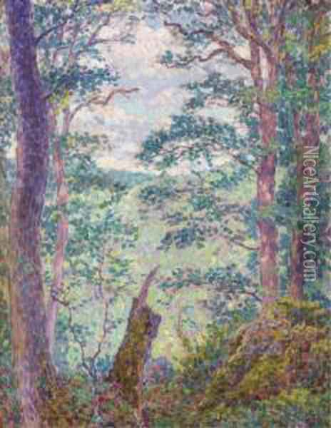 Sous-bois Oil Painting - Georges Lacombe