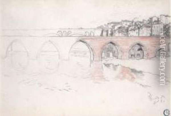 Pont D'albi Oil Painting - Georges Lacombe