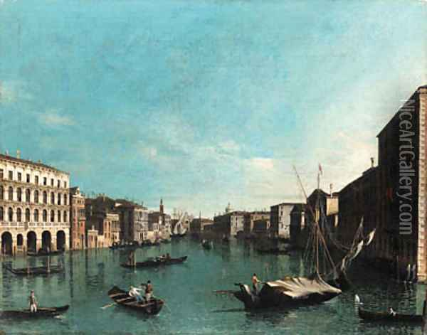 The Grand Canal, Venice Oil Painting - (Giovanni Antonio Canal) Canaletto