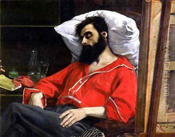 The Convalescent or The Wounded Man Oil Painting - Charles Emile Auguste Carolus-Duran