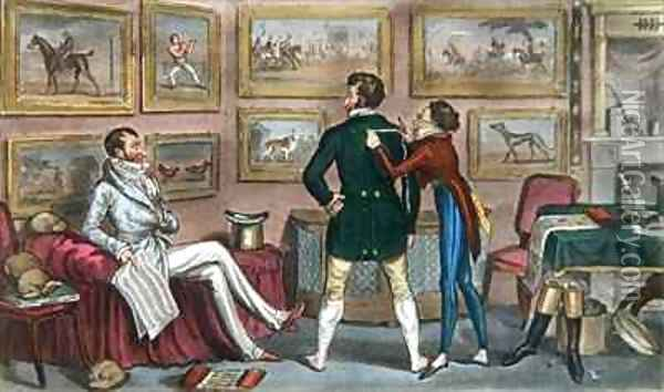 Jerry in training for a Swell Oil Painting - I. Robert and George Cruikshank