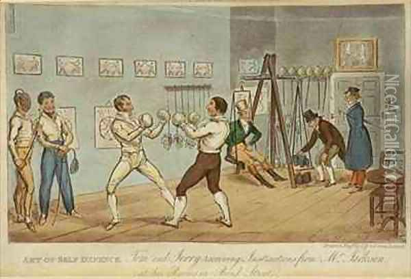 Art of Self Defence Oil Painting - I. Robert and George Cruikshank