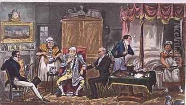Jerry beat to a stand still Oil Painting - I. Robert and George Cruikshank