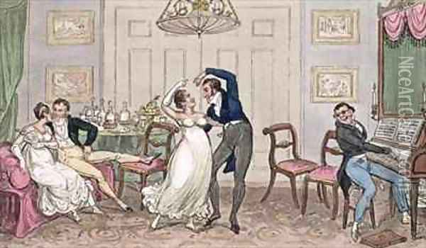 An Introduction Gay moments of Logic Jerry Tom and Corinthian Kate Oil Painting - I. Robert and George Cruikshank