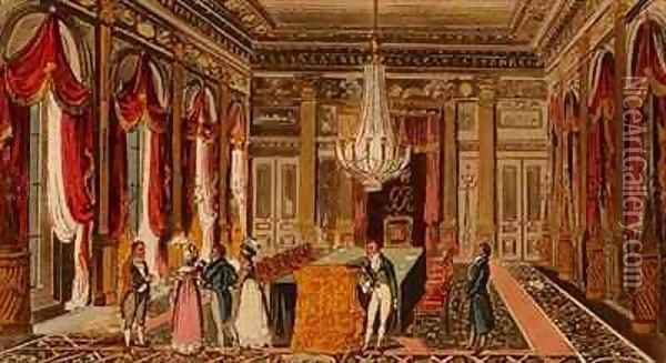 Tom Jerry and Logic visiting Carlton House Oil Painting - I. Robert and George Cruikshank