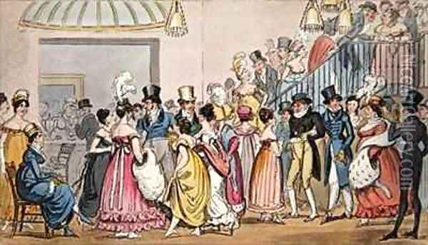 Tom and Jerry in the Saloon at Covent Garden Oil Painting - I. Robert and George Cruikshank