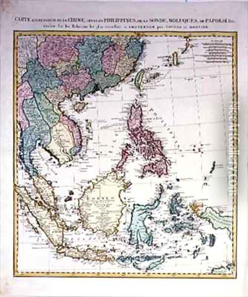 Southern Asia from China to New Guinea Oil Painting - Johannes and Mortier, Cornelis Covens