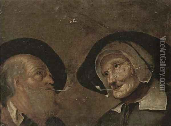 A head of a man and a woman Oil Painting - Giacomo Francesco Cipper