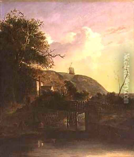 A View near Harwich Oil Painting - John and John Berney Crome