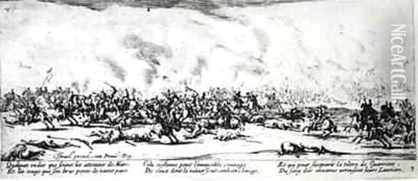 The Battle Oil Painting - Jacques Callot