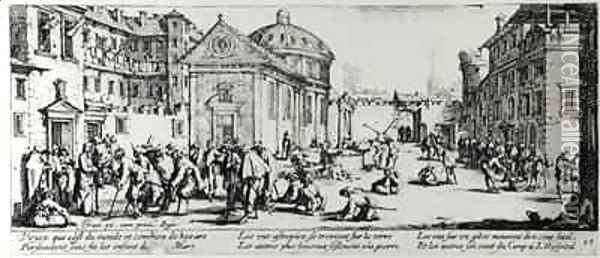 The Hospital Oil Painting - Jacques Callot