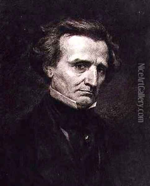 Portrait of Hector Berlioz 1803-69 Oil Painting - Gustave Courbet