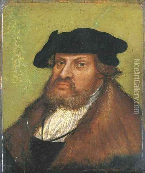 Portrait of the John the Steadfast, Elector of Saxony (1468-1532) Oil Painting - Lucas The Elder Cranach