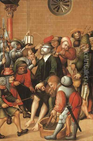 The Mocking of Christ Oil Painting - Lucas The Elder Cranach