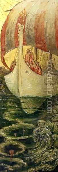 The Viking Ship Oil Painting - Andreas Duncan Carse